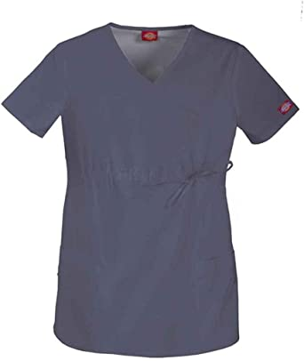 4d2c4a12b50 Amazon.com: Dickies Gen Flex Maternity Mock Wrap Scrub Top: Clothing