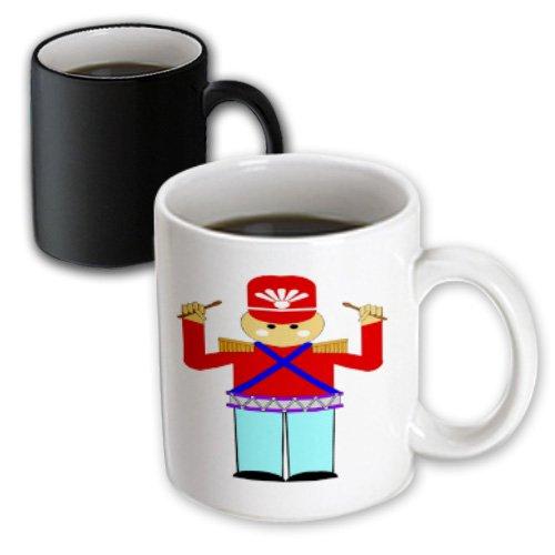 Florene Childrens Art II - Red n Aqua Tin Soldier - 11oz Magic Transforming Mug (mug_48216_3)