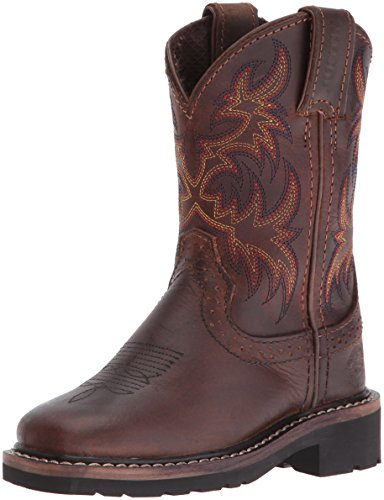 Justin Boots Kids' Buffalo Stampede Western, Brown, 2.5 D US Little Kid -