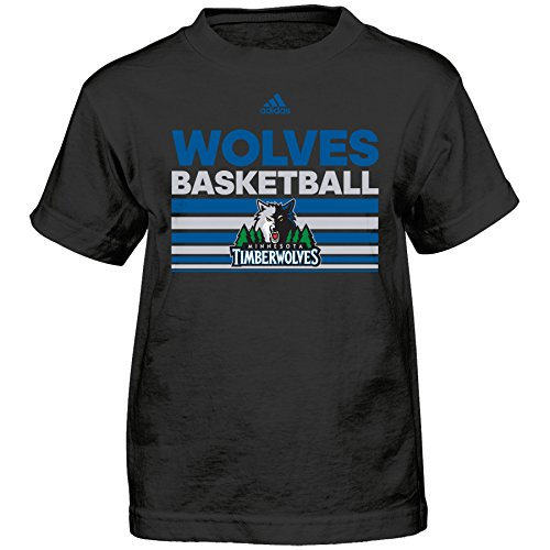 fan products of NBA Minnesota Timberwolves Boys Born One Short Sleeve Tee, Large (7), Black