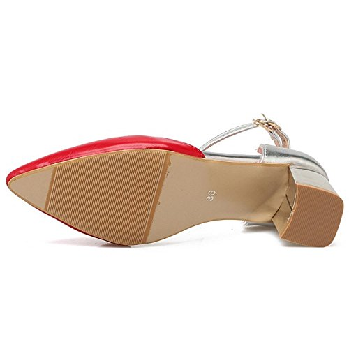 Sandalias de 1 Zanpa de Mujer red Color Match Z7dwWqv