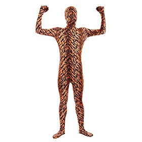 Sheface Kids Spandex Tiger Full Bodysuit Fancy Dress Costume Small P28