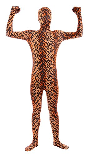 Sheface Kids Spandex Tiger Full Bodysuit Fancy Dress Costume (Small, P28) -