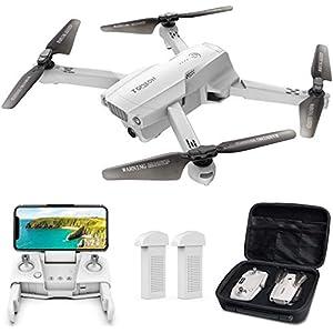 Tomzon Drone GPS D65 avec Caméra 4K pour Adultes Drone Pliable FPV RC Quadcopter avec Autonomie 40 minutes, Fonction RTH…