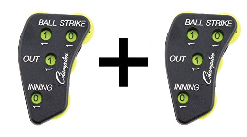 Champion 4-Wheel Baseball Softball Umpire Indicator Count Clicker (2-Pack)