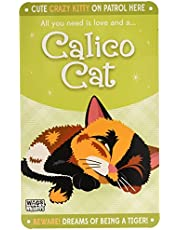 Wags and Whiskers Calico Cat Sign, Large, Multicolor