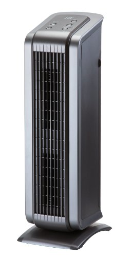 SPT - HEPA/VOC Tower Air Purifier - Black/Pewter AC-2062