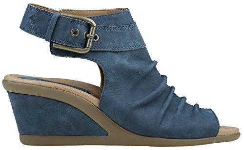 Origini Della Terra Womens Sandalo Adina Con Zeppa Marocchino Blu