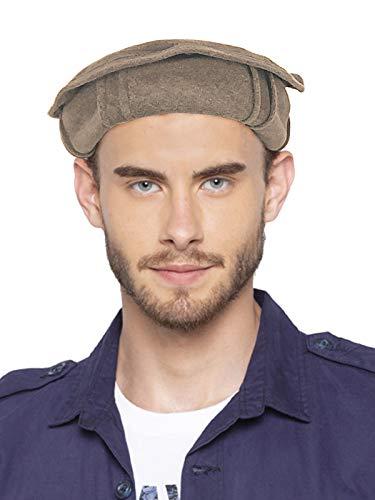 Vastraa Fusion Woolen Afghan Pakol Topi/Cap for Men & Women - Light Brown - Free Size