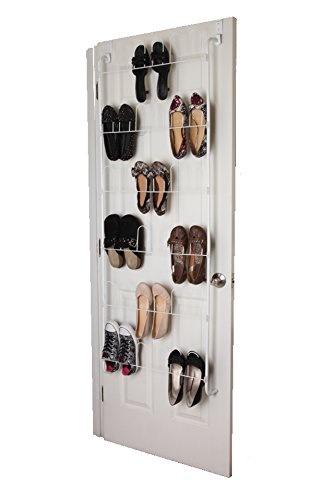 Amazon Over The Door Shoe Rack Organizer Holds 18 Pairs Of