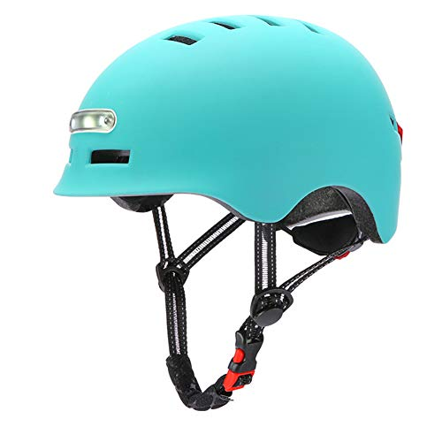 Adult Bike Helmet That's Light, Cool & Sleek, with With Front And Rear Lights for Urban Commuter Adjustable Size for…