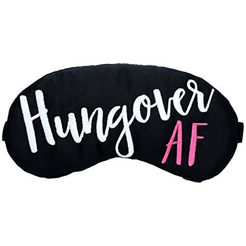 Hungover AF Sleep Mask- Black with White and Pink by The Sleepy Cottage
