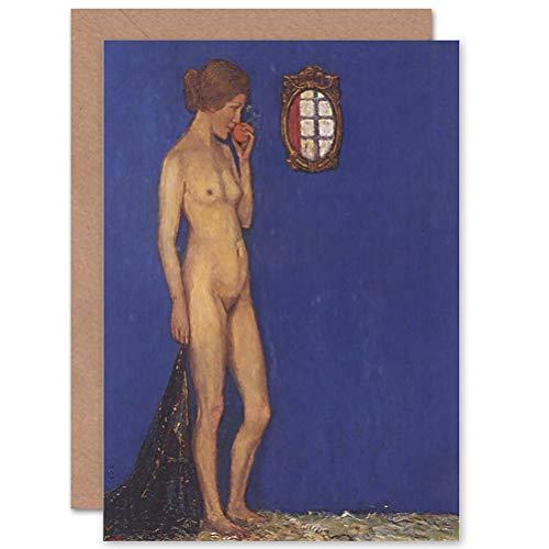 (Wee Blue Coo Greetings Card Painting Heinrich VOGELER AKTPORTRAT Martha VOGELER 1910)