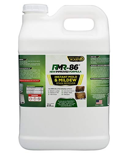 RMR-86 Instant Mold and Mildew Stain Remover Plus Mold Stain Blocker (2.5 Gallon) (Best Deck Stain Remover)
