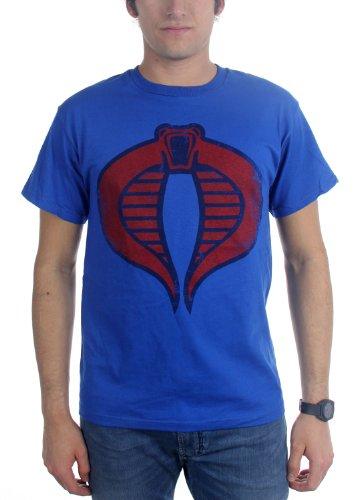 GI Joe - Mens Cobra Commander T-Shirt, Size: Small, Color: Blue