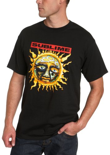 Sublime Men's Short Sleeve New Sun T-Shirt Shirt, Black, Large ()
