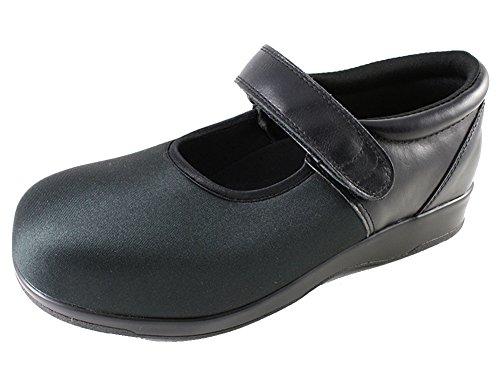 Pedors Womens Mary Jane Black Neoprene Flats 7 B(M) US (Pedors Shoes)