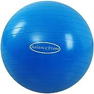 BalanceFrom Bola de exercício antiexplosão e antiderrapante bola de ioga bola fitness bola de parto com bomba