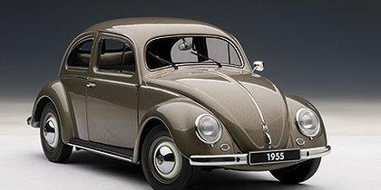 Volkswagen VW Beetle Kafer 1200 Limousine Polaris Silver 1955 1:18 Model 79777 by AUTOart
