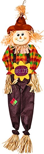 Worth Imports 60'' Hanging Scarecrow with Sunflower Design by Worth Imports