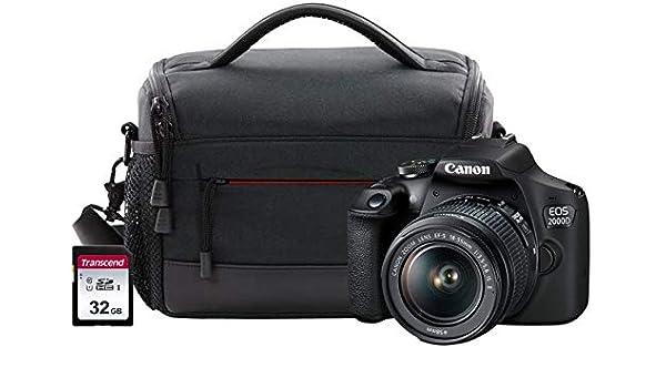 Canon EOS 2000D SLR Camera Kit Inc EF-S 18-55mm IS Lens, 32GB SD ...