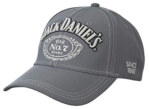 Jack Daniels Contrast Stitching Hat Grey (Jack Daniels Whiskey Chocolate Price In India)