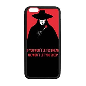 "CASECOCO(TM) V For Vendetta Case Cover Skin For iphone 6 Plus 5.5"""