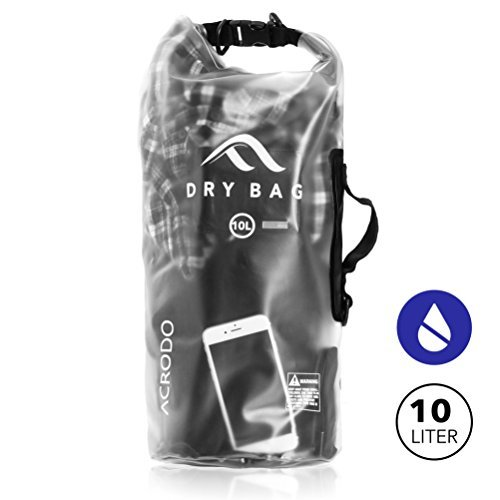 new-acrodo-transparent-waterproof-floating-dry-bag-10-liter-for-boating-camping-and-kayaking-with-sh