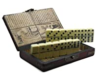 Collectible Ivory Color Domino Game With Chinese Storage Caseの商品画像