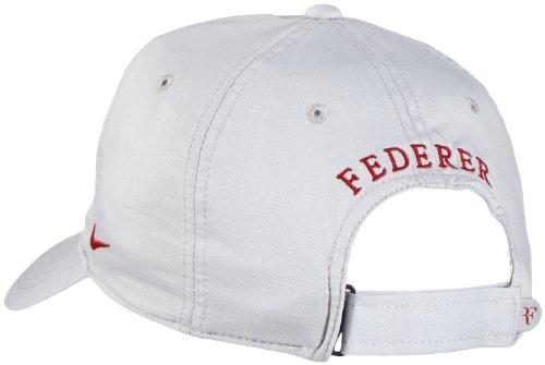 Mens Nike Premier RF Hybrid Adjustable Tennis Hat Dusty Grey Gym Red  371202-065 d41bfac57ae6
