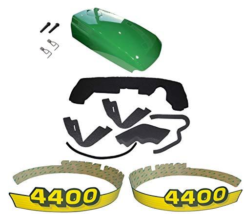 New Kumar Bros USA Upper Hood/Fuel Door Kit/Mounting Seal Kit/LH & RH Decals fits John Deere 4400