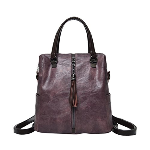 Backpack For Women Casual Purple Hand Bag Travel Bag Shoulder Bag Fashion Backpack Leather Xinwcang Type Pu wq5FCaP