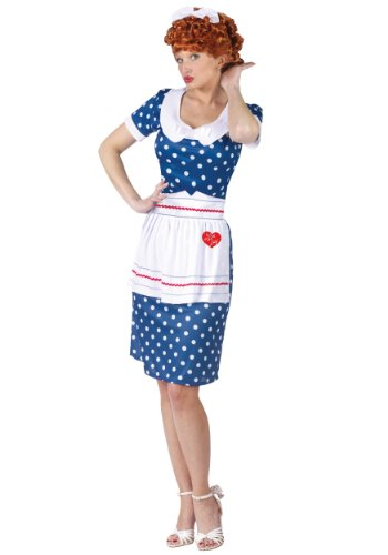 I Love Lucy Dress Costumes (I Love Lucy Sassy Lucy Adult Costume Size Small/Medium (2-8))