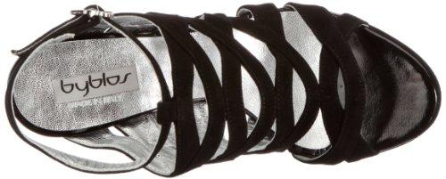 Byblos GAGA CXA7824E - Sandalias de vestir de ante para mujer Negro