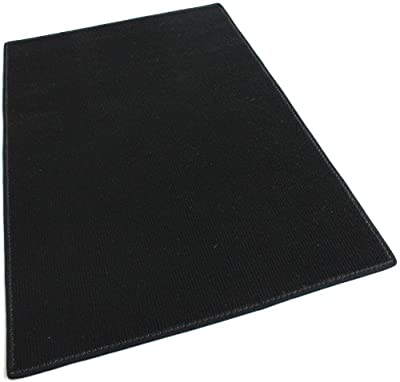 """BLACK - Indoor/Outdoor Area Rug Carpet, Runners & Stair Treads with a Non-Skid Latex Marine backing and Premium Nylon Fabric FINISHED EDGES . Olefin , 3/16"""" Thick + Medium Density. MANY SIZES and Shapes. Rectangles, Squares, Circles, Half Rounds, Ovals, a"""