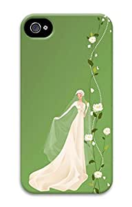 iPhone 4S Case Beautiful Bride Pattern Hard Back Skin Case Cover For Apple iPhone 4 4G 4S Cases