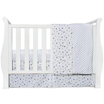 Amazon.com: SleepStork - Juego de cama para cuna de bebé, 4 ...