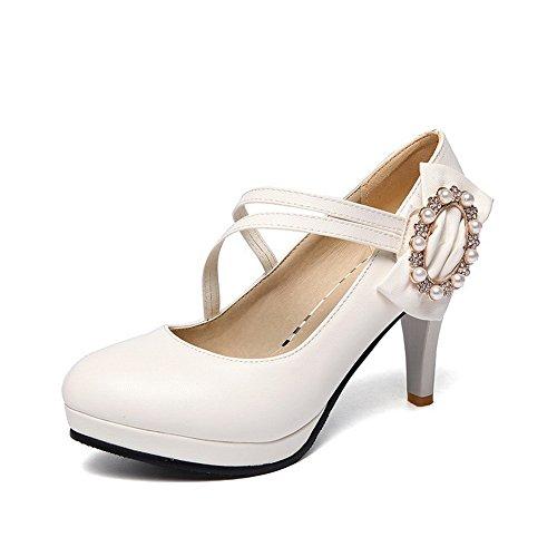 Para Zapatos Mujer De 1to9 Vestir Blanco x7q1Ynw