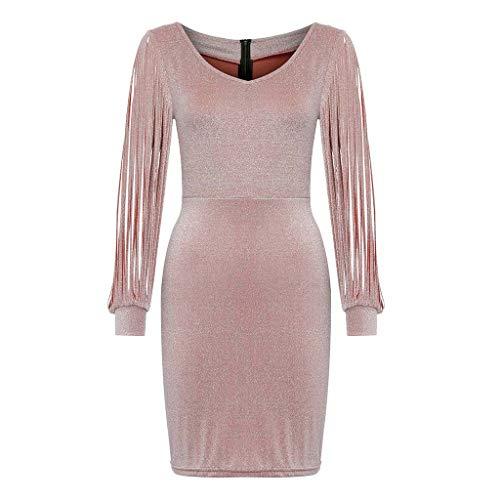 Caftan Sequined - LISTHA Sequined Mini Dress Women Sexy V Neck Club Sheath Long Sleeve Dresses