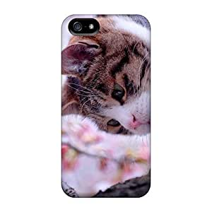 Kgirq1870cKjYC Case Cover Protector For Iphone 5/5s Kitty On The Branch Case