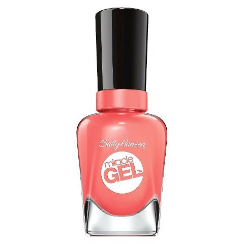Sally Hansen Miracle Gel Nail Polish - Malibu Peach 380-new Miracle Gel™ No Light Needed + Up to 14 Days of Color & (Malibu Nail Polish)