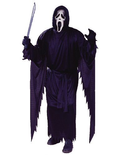[Fun World Costumes Adult Scream Costume, Black, One Size] (Celebrity Halloween Costumes For Sale)