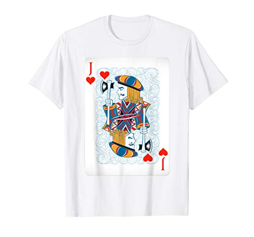 Jack of Hearts Playing Card Poker Halloween Costume Card Gif -
