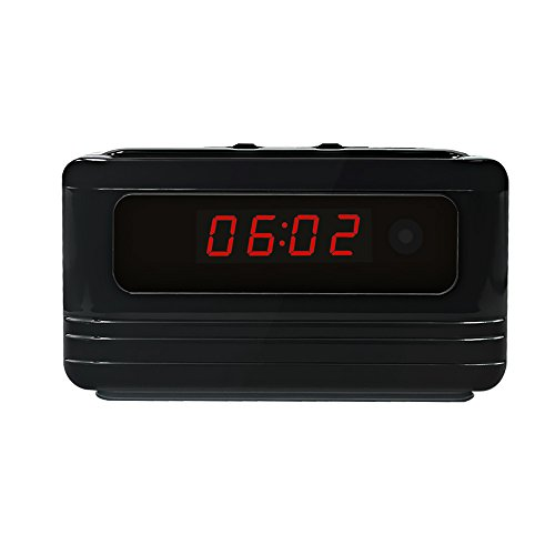 Littleadd Hidden Camera Alarm Clock 1080P Full HD Spy Camera Motion Detection Activated Loop Video Recording Remote Control Security Camera Nanny Cam