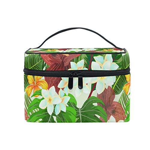 (Flower Cluster Of Palm Leaves Travel Toiletry Bag Cosmetic Organizer for Large Portable Bathroom Accessories Kit )