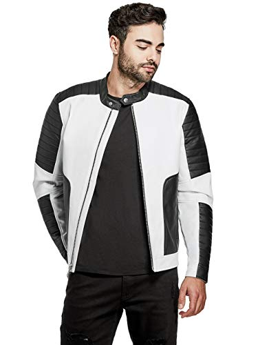 GUESS Factory Men's Jonas Color-Block Moto ()