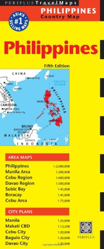 Philippines Travel Map Fifth Edition