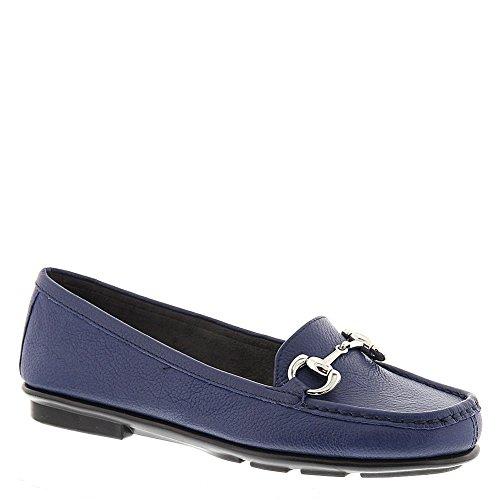 Aerosoles Womens Nuwsworthy Blue Leather 8.5 B - Medium