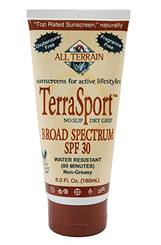 All Terrain Terra-Sport SPF-30 Oxybenzone-Free Natural Sunscreen Lotion, - 6 Terra