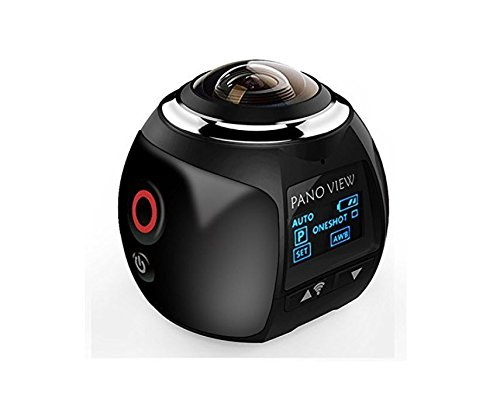 Action Camera Techsavages Sport Camera Wireless 360 Degree Panoramic Camera 3D VR Action Sports Camera Wifi 16MP HD 30fps Waterproof 230° Large Lens Mini DV Camera Action Cameras Techsavages